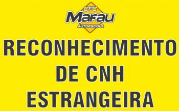 Reconhecimento de CNH Estrangeira